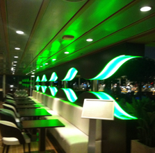 LED lit bar
